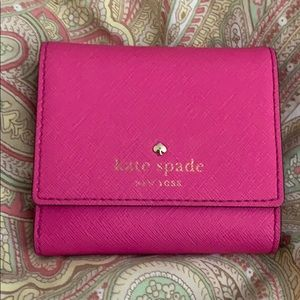 Small pink Kate Spade wallet